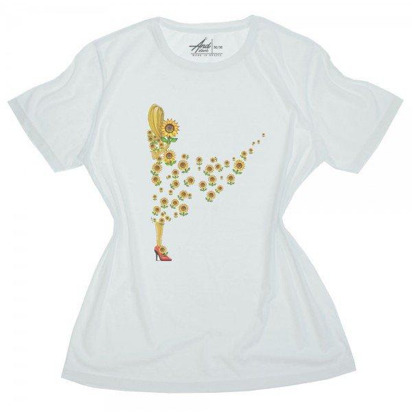 camiseta feminina mulher girasol