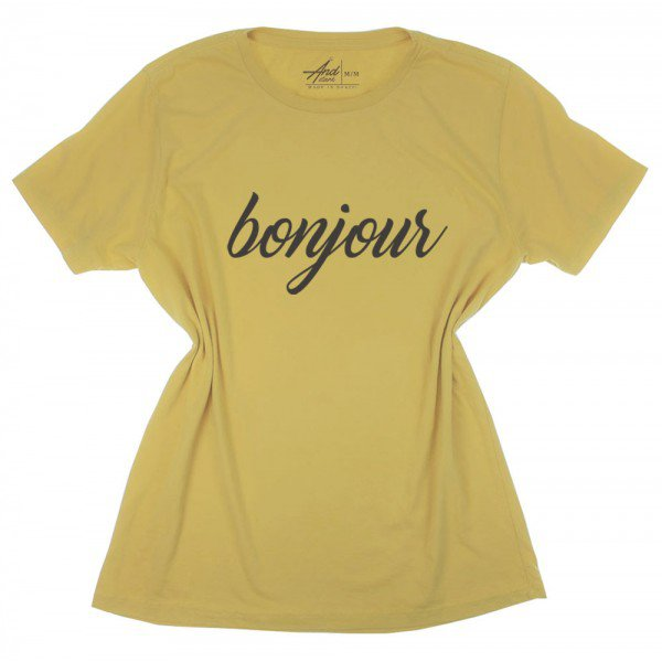 camiseta mostarda bonjour aprovada
