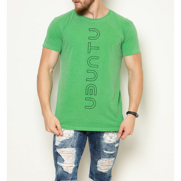camiseta ubuntu vertical verde