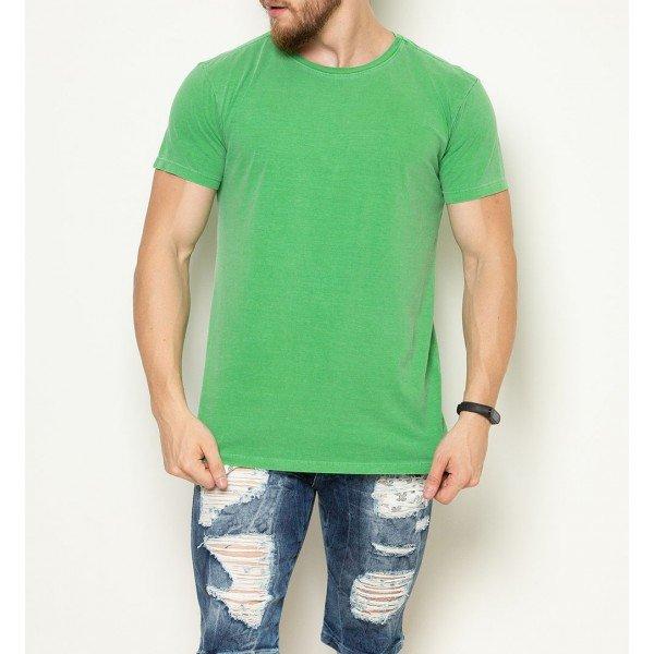camiseta verde frente