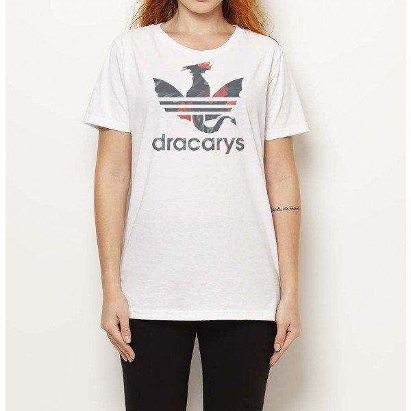 preocupación Boda cartel  Camiseta Dracarys Roses - Branca