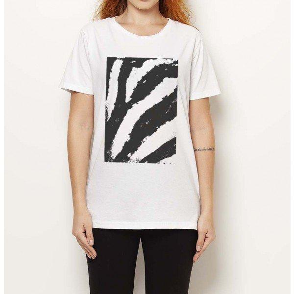 camiseta zebra feminina