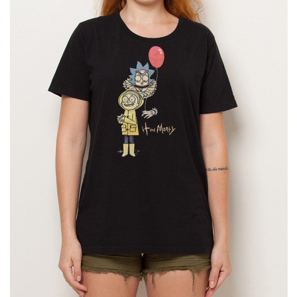camiseta geek it and morty